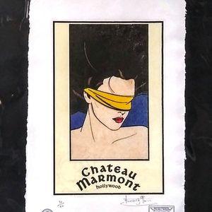 Chateau Marmont Nagel Print signed Fairchild Paris